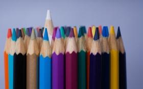 Картинка макро, фон, карандаши