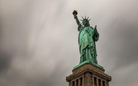 Картинка статуя, город, свобода