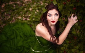 Картинка Nature, Green, Beauty, Eyes, View, Face, Lips