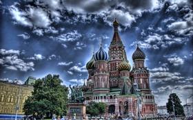 Картинка Москва, Храм Василия Блаженного, Россия, Moscow