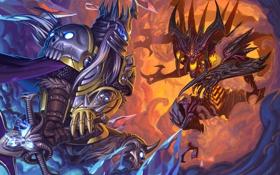 Картинка diablo, warcraft, arthas, Heroes of the Storm