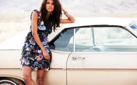 Картинка машина, авто, девушка, обои, модель, wallpaper, красотка