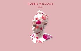 Обои розовый, конфета, Candy, певец, Robbie Williams