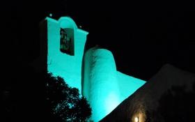 Картинка свет, ночь, церковь, колокол