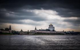Картинка пейзаж, город, Псков