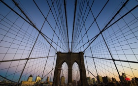 Картинка Нью-Йорк, USA, США, Бруклинский мост, New York, Brooklyn Bridge, State of New York