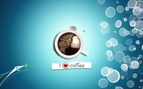 Обои надпись, чашка, кофе