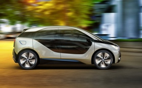 Картинка движение, concept, концепт, BMW i3, БМВ и3, компакт-кар