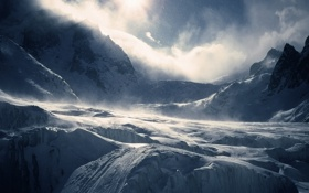 Обои снег, горы, snow
