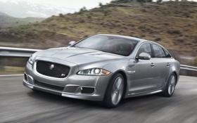Обои машина, скорость, Jaguar, ягуар, XJR