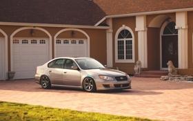 Обои silvery, Subaru, серебристый, Legacy, дом, субару, легаси