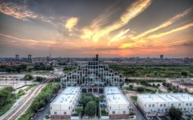 Картинка закат, Чикаго, Иллинойс, Chicago, Illinois, sunset, usa