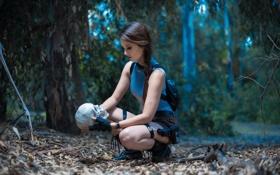 Обои лес, взгляд, девушка, череп, Tomb Raider, косплей, cosplay