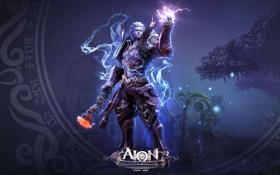 Картинка магия, посох, AION, волшебник