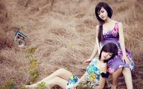 Картинка Девушки, Часы, Азиатки, Lilly Luta