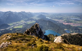 Картинка горы, озера, долина, леса
