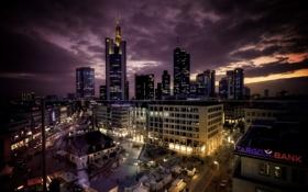 Картинка ночь, город, здания, Germany