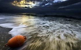Картинка море, волны, ночь