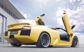 Картинка car, машина, авто, Lamborghini, ламборджини, желтая