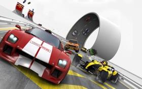 Обои машины, гонка, скорость, трек, TrackMania