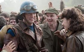 Обои фантастика, очки, куртка, солдаты, шлем, комикс, Captain America