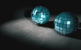 Картинка фон, шары, обои