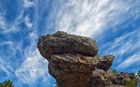 Обои скалы, камни, небо, облака