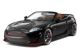 Картинка машина, черный, тюнинг, Jaguar, ягуар, Convertible, XKR-S