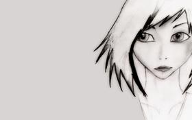 Обои глаза, взгляд, девушка, обои, рисунок, аниме, арт