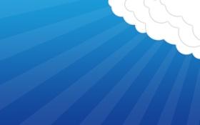 Картинка небо, облака, настроение, обои, минимализм