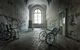 Обои двери, коридор, коляски