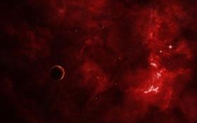 Обои свечение, nebula, звезды, планеты