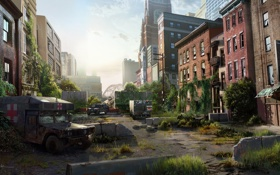 Обои машины, город, апокалипсис, эпидемия, The Last of Us