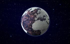 Картинка космос, люди, Земля