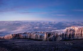 Обои Clouds, Sky, Mountains, Africa, Tanzania, Mt. Kilimanjaro