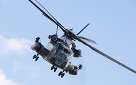 Обои полёт, вертолёт, военный, Sikorsky, транспортный, тяжёлый, CH-53