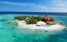 Обои отель, Карибы, остров, бунгало, Ямайка, море