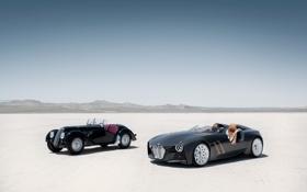 Картинка пустыня, BMW, old, new, Hommage, 328