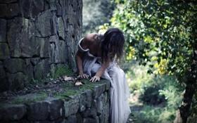 Обои autumn, shadow, conceptual, self portrait, tale