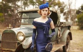 Обои дама, платье, фон, The Dressmaker, Портниха, стиль
