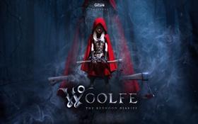 Картинка лес, девочка, топор, Красная Шапочка, Woolfe - The Red Hood Diaries, GriN