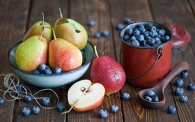 Картинка ягоды, еда, черника, ложка, посуда, фрукты, натюрморт