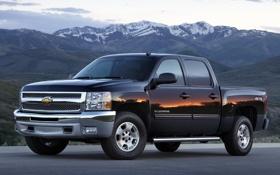 Картинка горы, Chevrolet, джип, внедорожник, Шевроле, пикап, передок