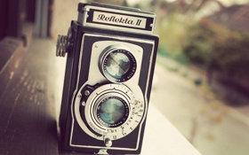 Картинка ретро, камера, объектив
