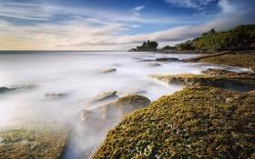Обои beach, Bali, Indonesia, long exposure, Tanah Lot