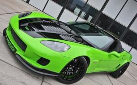 Обои green, Z06, Corvette, Chevrolet, зелёный, шевроле, корвет