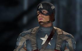 Картинка фантастика, костюм, шлем, комикс, боке, Captain America, Крис Эванс