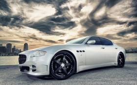 Обои Maserati, Закат, Небо, Облака, Авто, Тюнинг, Машины