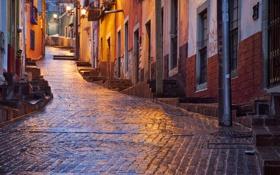 Обои брусчатка, мексика, улица