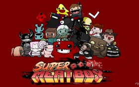 Картинка мясо, герои, game, SUPER MEET BOy